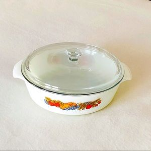 Anchor Hocking Fire-King Casserole with Lid Fruits